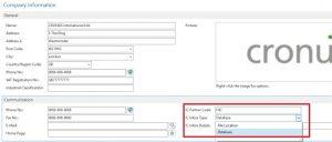 Company Information Setup Page for Intercompany Microsoft Dynamics NAV