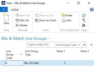 Mix and Match Line Group